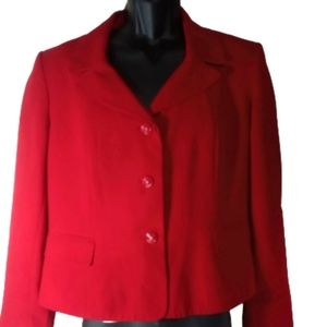 Cato Red Button Front Blazer Women Sz 18W